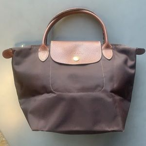Longchamp Le Pliage Small Top Handle Tote Brown